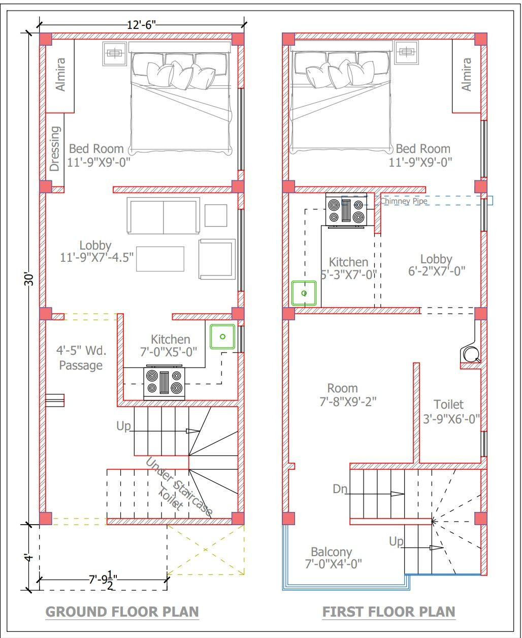 Very Small House Plans Fresh 12 5 30 Plot Very Small Plot Planing In Golapaar with