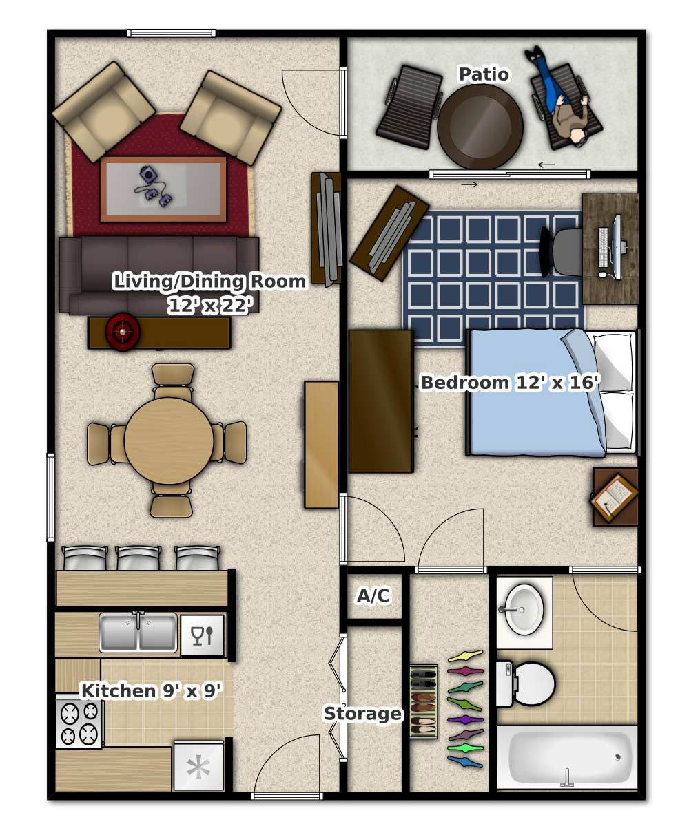 1 Bed House Plans Fresh 1 Bedroom 1 Bathroom This is An Apartment Floor Plan