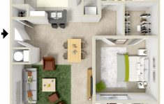 1 Bed House Plans Luxury 1 Bedroom Apartment Floor Plans