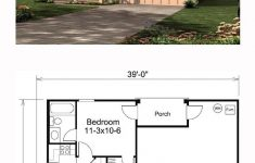 1 Bedroom House Plans With Garage New Tinyhome Tiny House Plan Tiny House Plan
