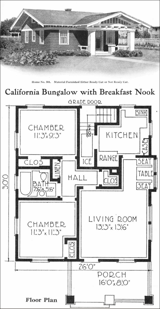 1000 Ft House Plans Inspirational California Style Bungalow Vintage Small House Plans 780