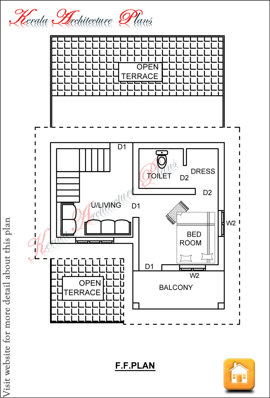 1600 Sq Ft House Cost Best Of 1200 Square Feet Kerala House Plan Best Three Bedroom House
