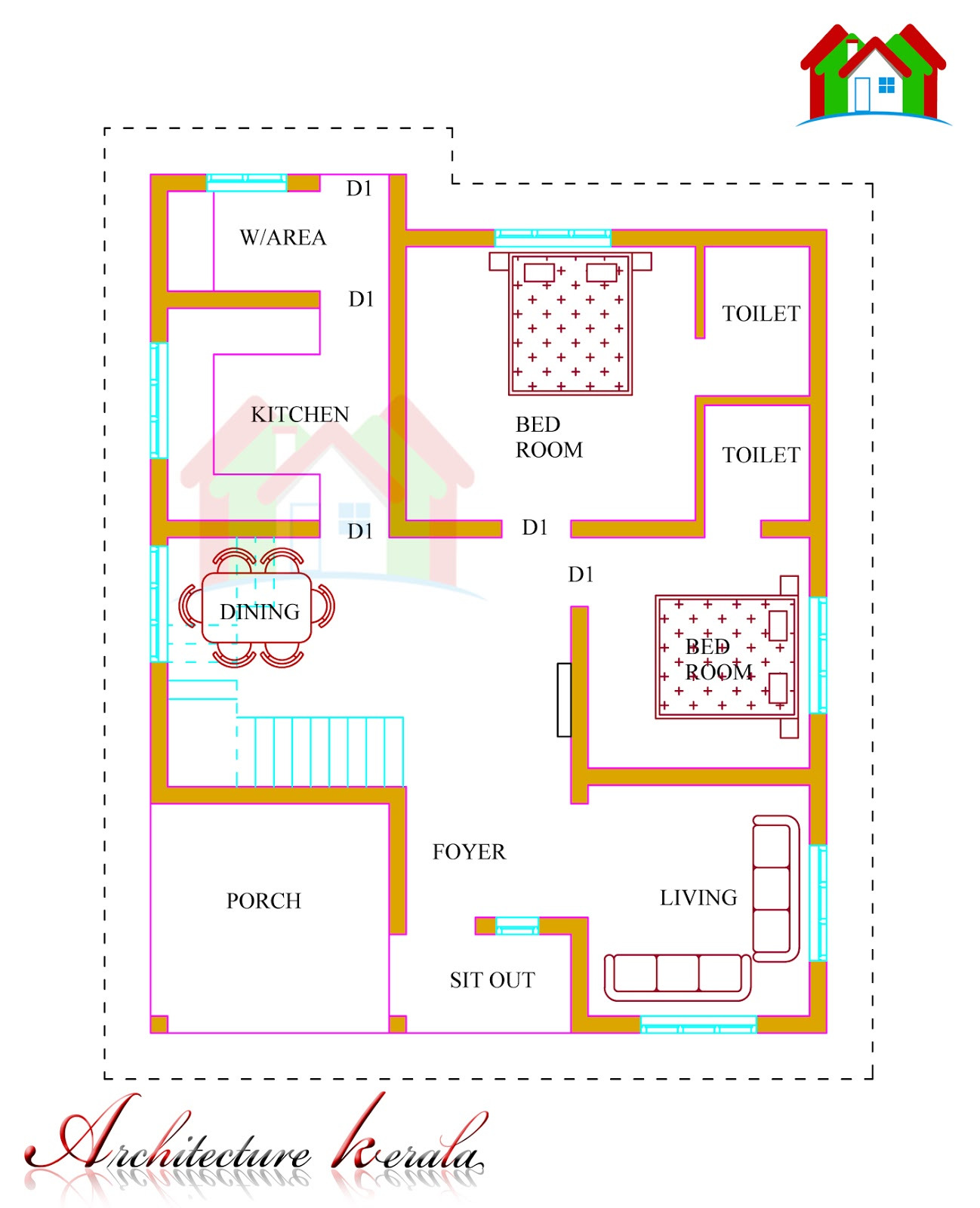 1600 Sq Ft House Cost Lovely 1500 Square Feet Kerala House Plan Architecture Kerala