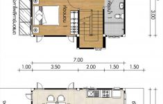 2 Bedroom Retirement House Plans Luxury Small Home Design Plans 7x7m With 2 Bedrooms