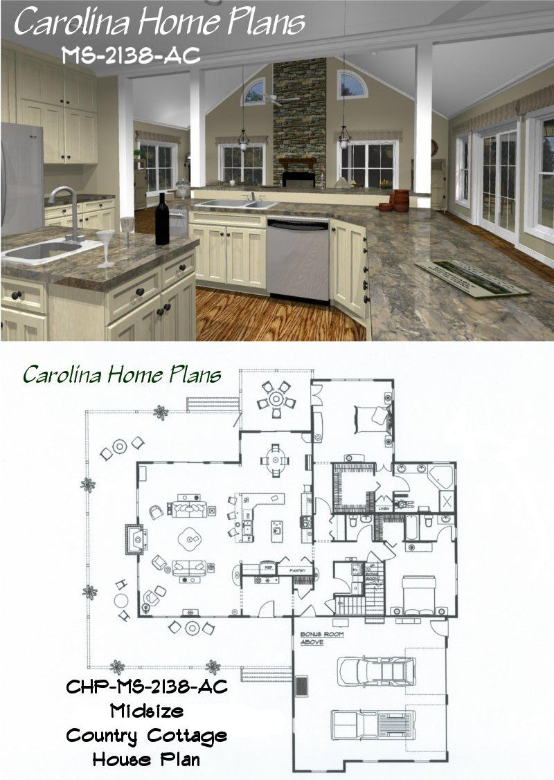 2400 Sq Ft House Plans 3d Inspirational Midsize Country Cottage House Plan with Open Floor Plan