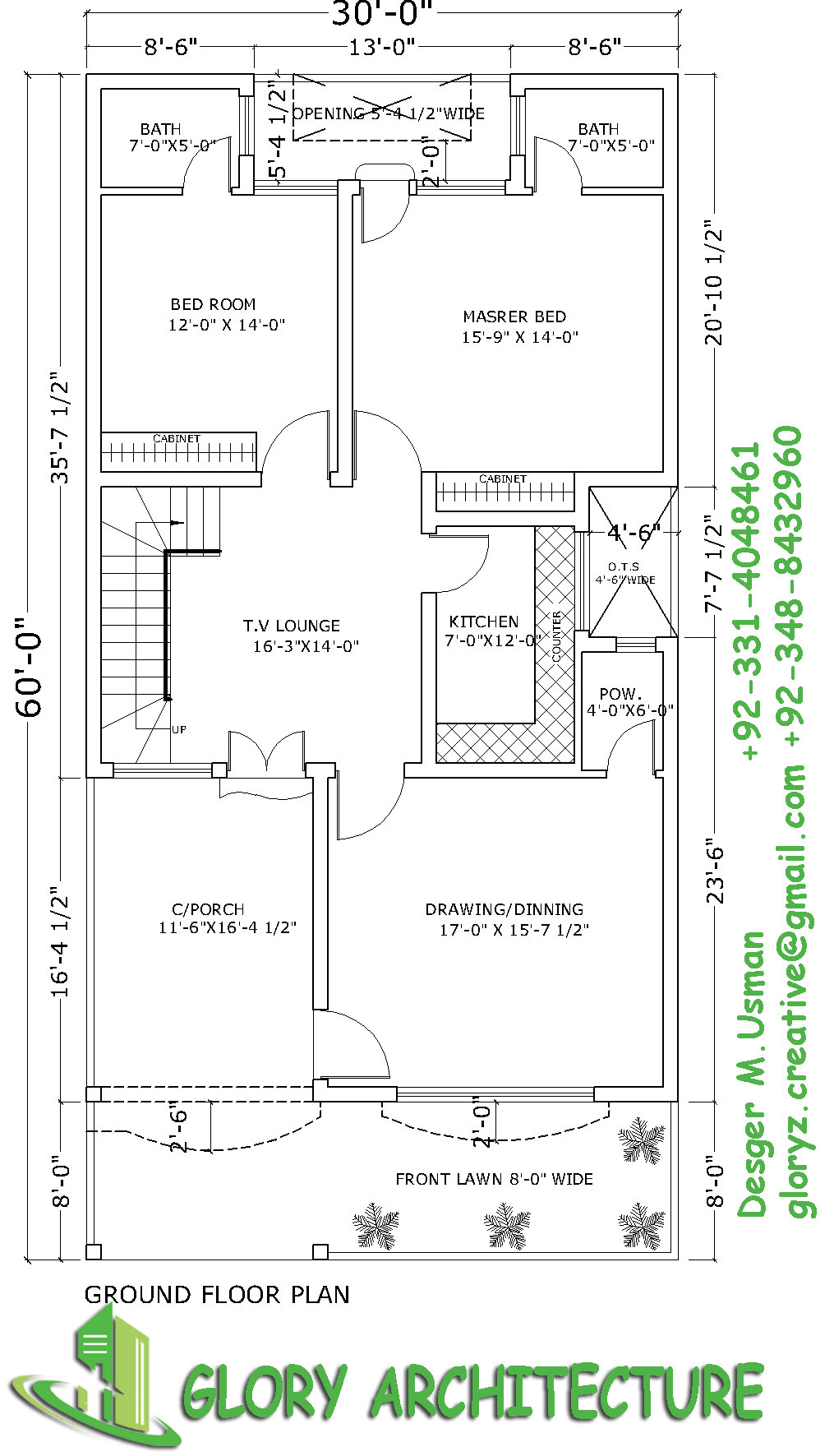 30x60 house plan 6 marla house plan