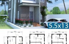 6 Bedroom Modern House Unique Modern Home Plan 5 5x13m With 6 Bedroom