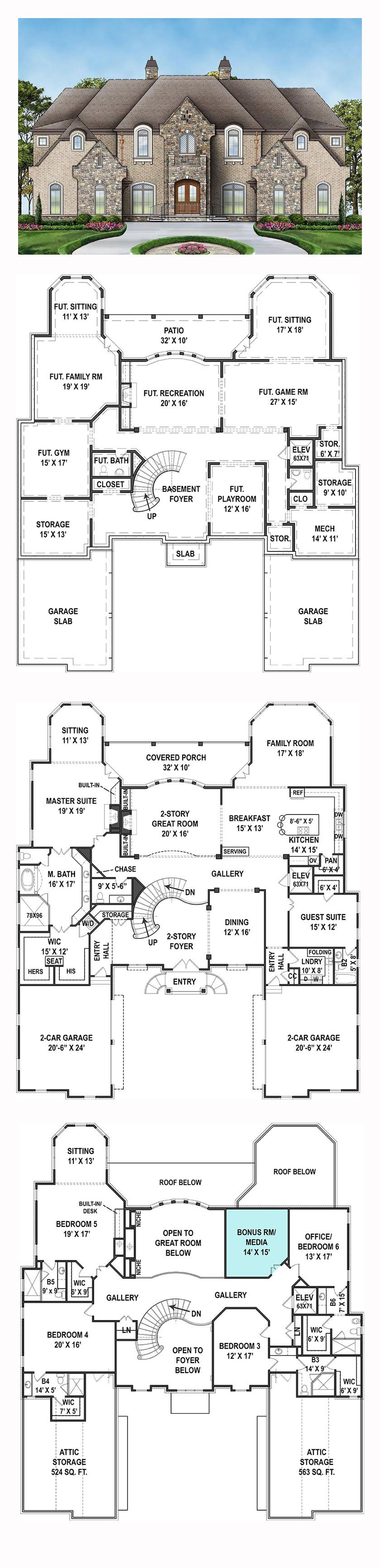 6 Room House Plan Beautiful French Country Style House Plan with 6 Bed 7 Bath