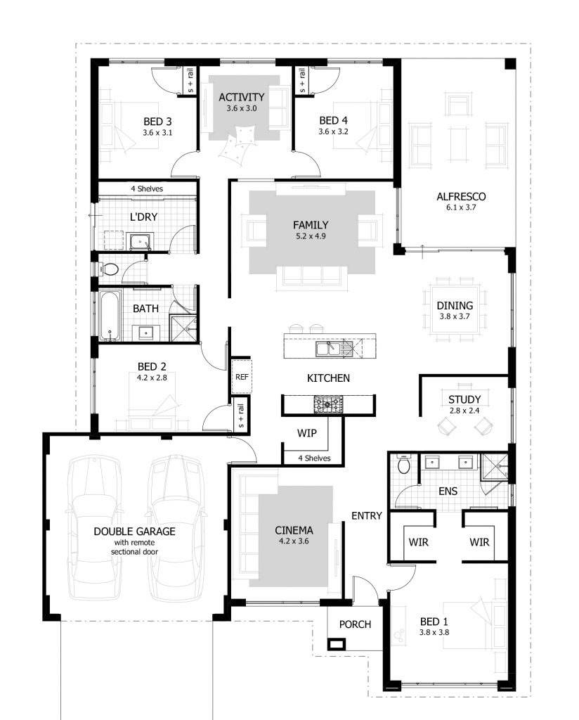 6 Room House Plan New 4 Bedroom Bungalow House Plans In Nigeria Propertypro Insider