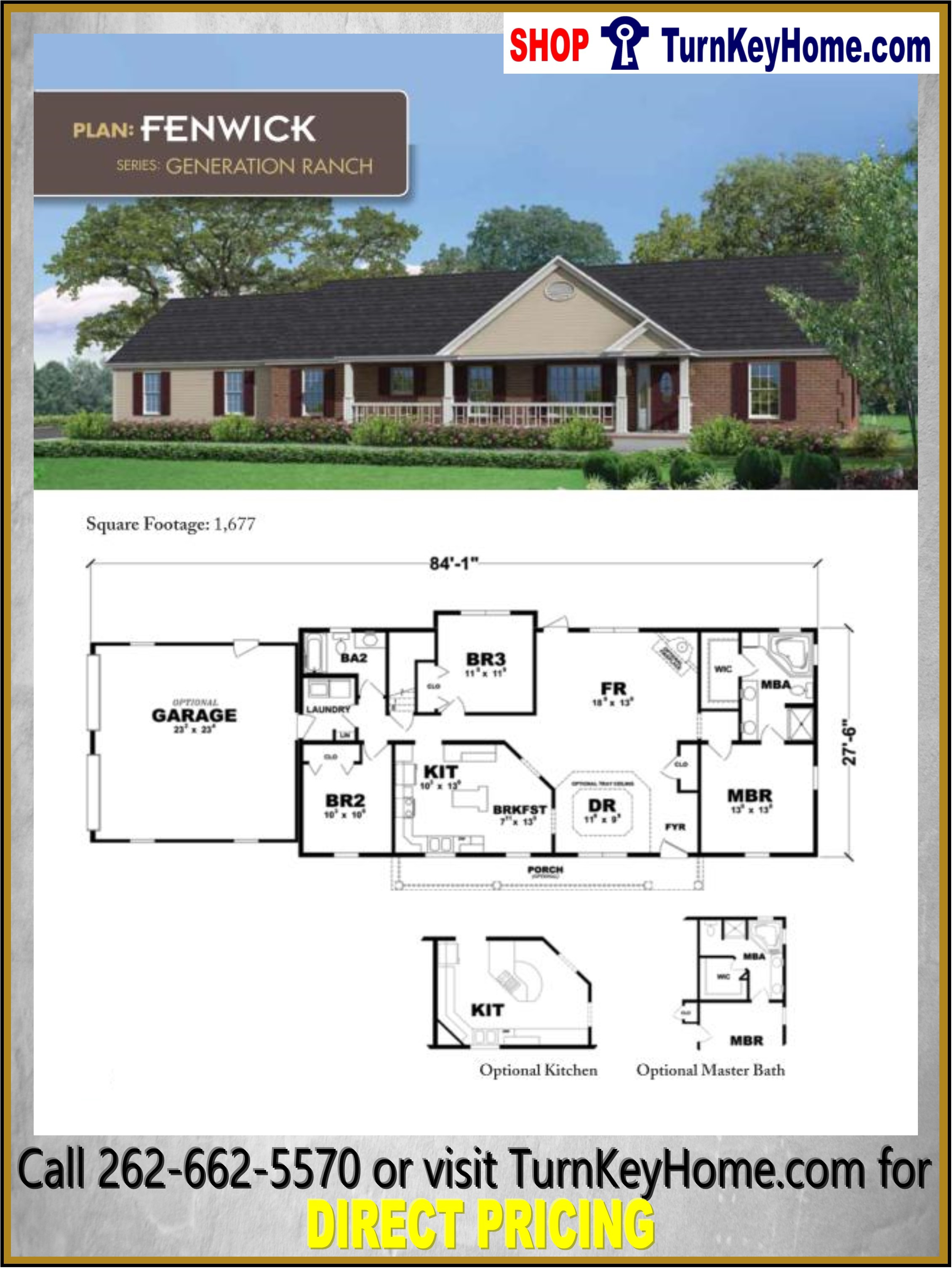 Affordable Ranch Home Plans Luxury Fenwick Ranch Style Home 3 Bed 2 Bath Plan 1677 Sf Priced