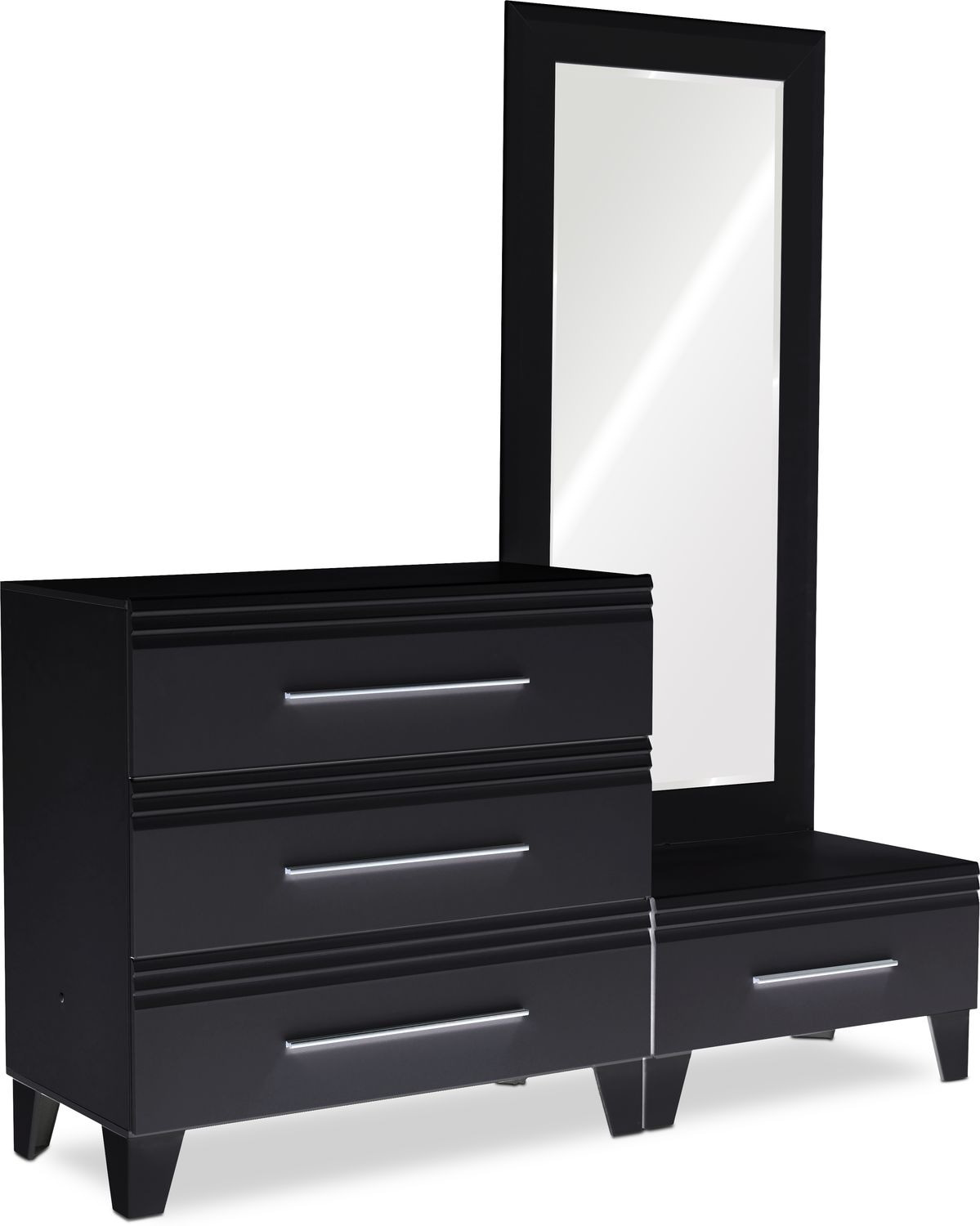 American Signature Bed Frame New Allori Chest and Dressing Mirror