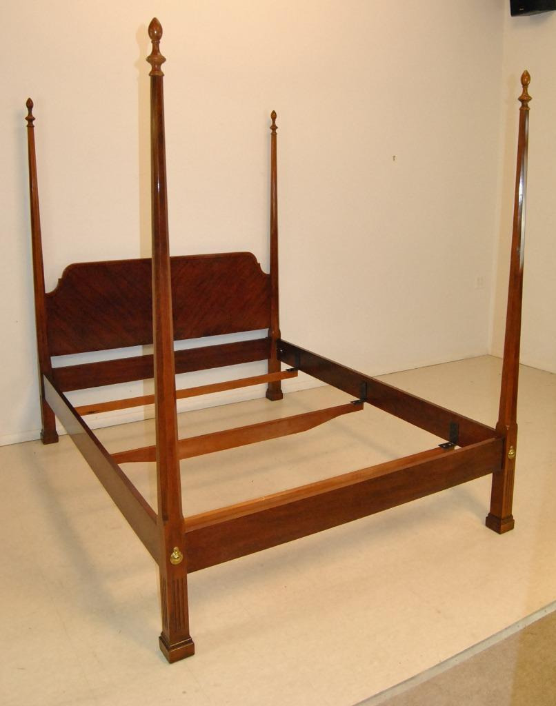 Queen Size Chippendale Four Poster Bed by Drexel