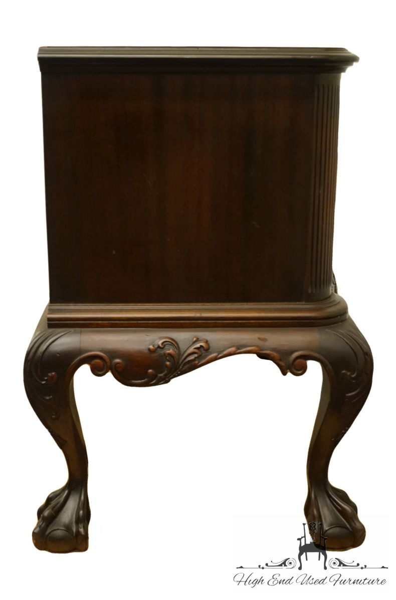 """Antique Chippendale Bedroom Furniture Lovely 1940 S Antique Vintage Mahogany Traditional Chippendale Style 41"""" Lowboy Secretary W Ball & Claw Feet"""