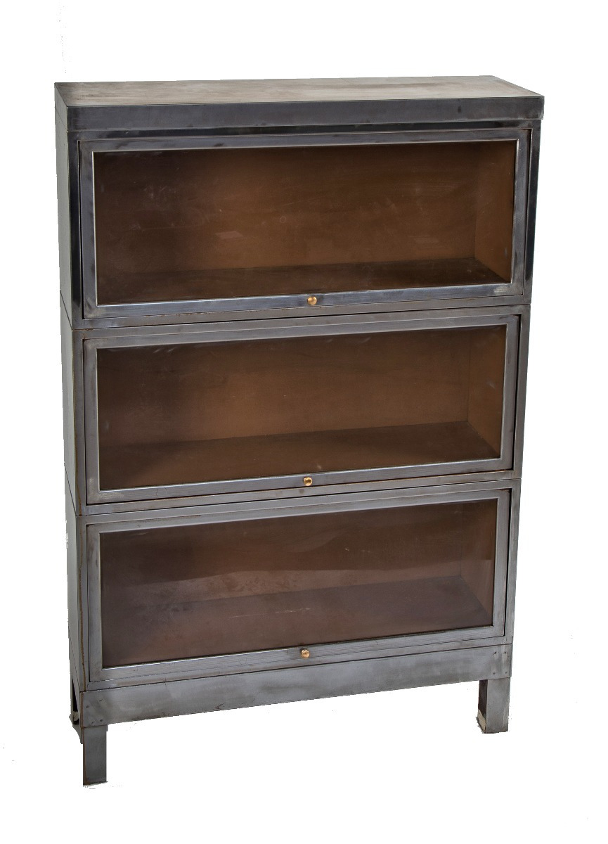 Antique Furniture Appraisal Chicago Luxury Refinished C 1930 S American Depression Era Antique American Industrial Salvaged Chicago Metal Barrister Bookcase
