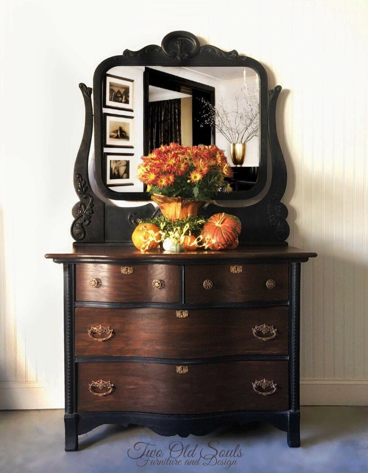 Antique Furniture for Sale Near Me Fresh Black and Brown Create the Perfect Pair On This Low Chest