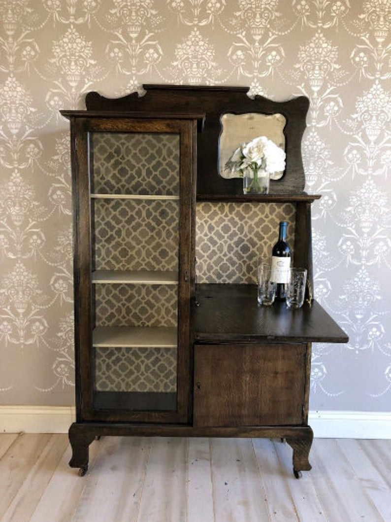 Antique Furniture for Sale Philippines Awesome Upcycled Painted Vintage Furniture Antique Liquor Bar Wine Cabinet Storage Blanket Wrapped Shipping Included In Price