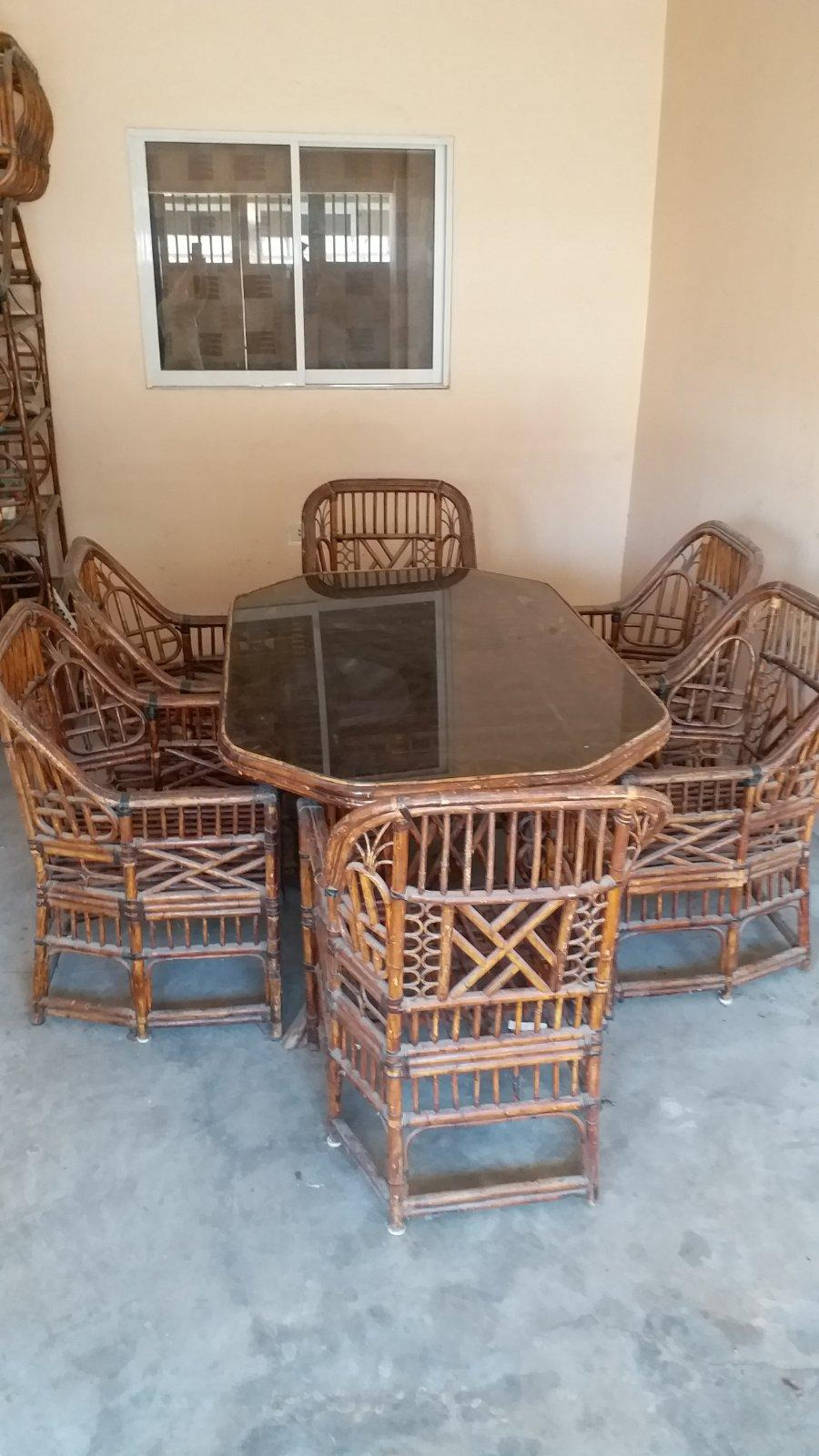 Antique Furniture for Sale Philippines Unique Antique Glass top Rattan Dining Table with 6 Chairs for Sale