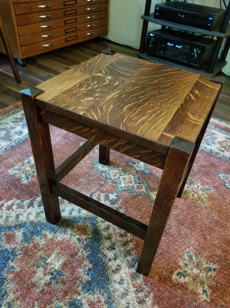 Antique Mission Style Furniture Luxury Antique Vintage Restored Mission Style Arts and Crafts Oak End Table Coffee Table Stool