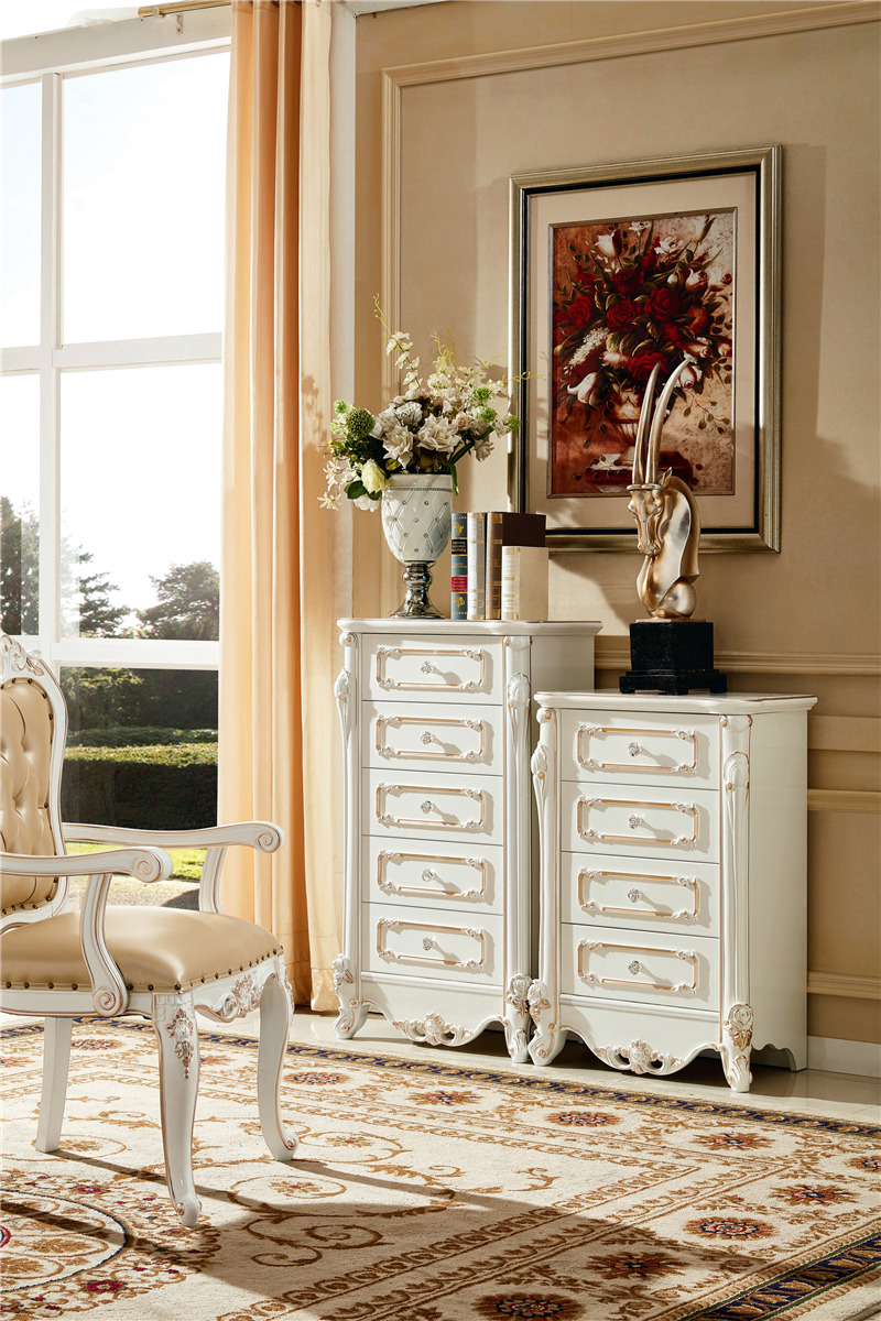 Cheap bedroom furniture antique white french style king bed
