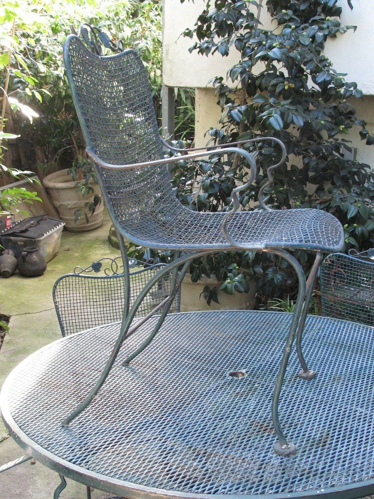 Antique Wrought Iron Furniture Prices Luxury Vintage 5 Piece Woodard Wrought Iron Patio Table and 4 Chairs