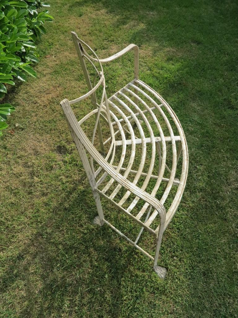 Antique Wrought Iron Furniture Prices Unique Antique Regency Wrought Iron Curved Garden Seat