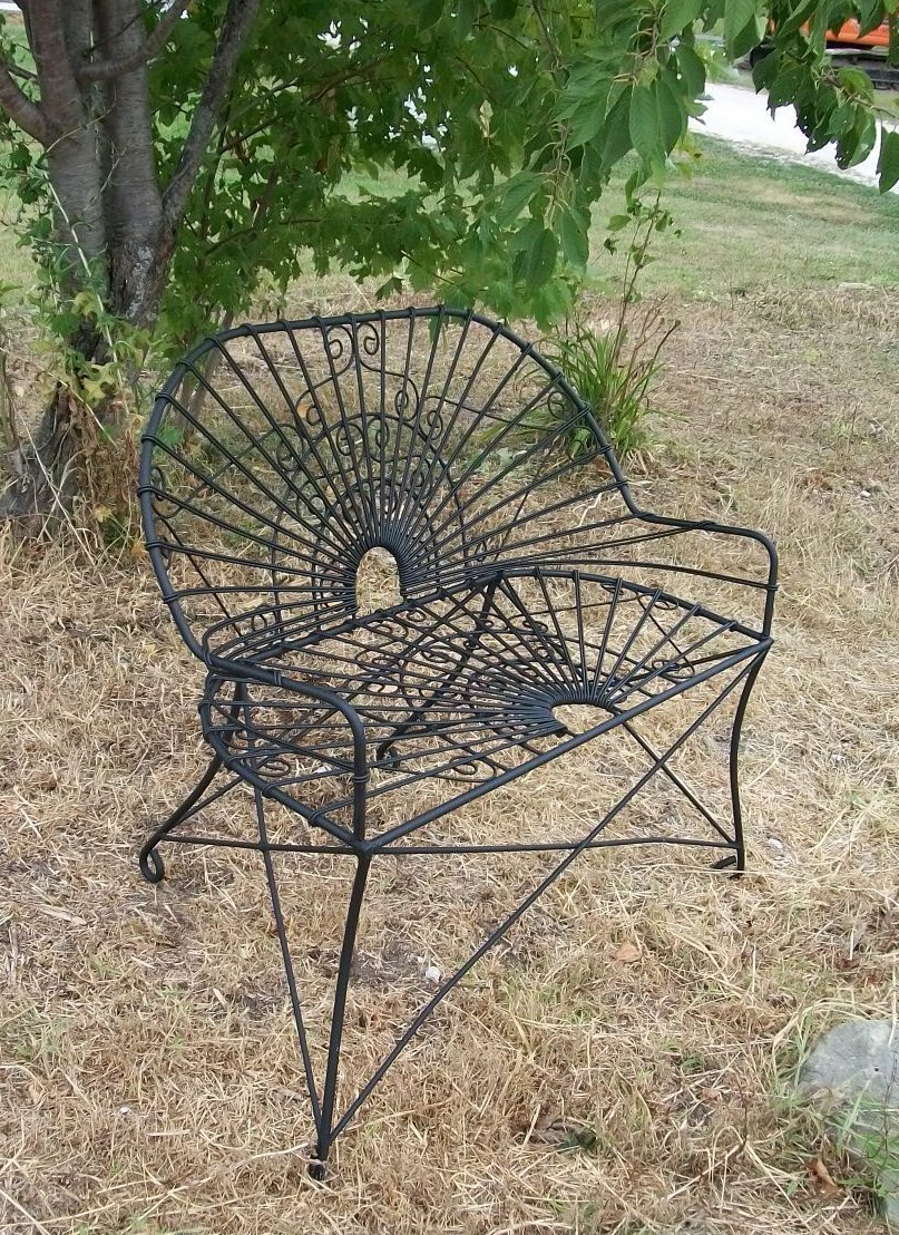 wrought iron antique style settee metal patio furniture 24