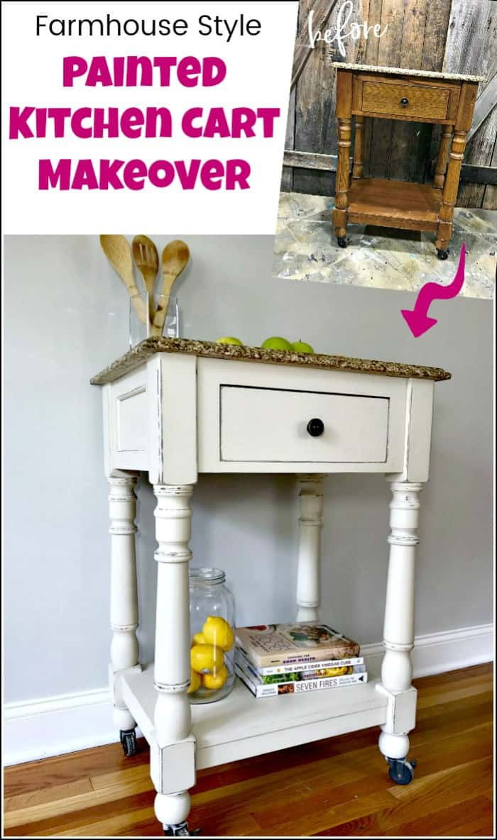 painted kitchen cart makeover