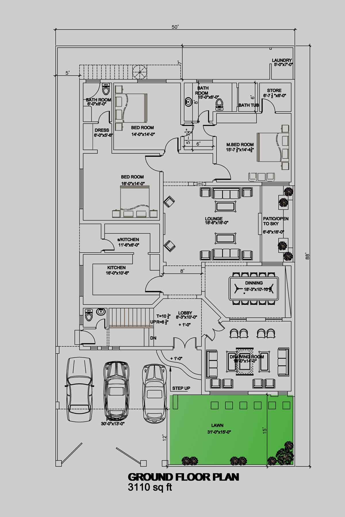 make 2d architecture drawing floor plans using autocad