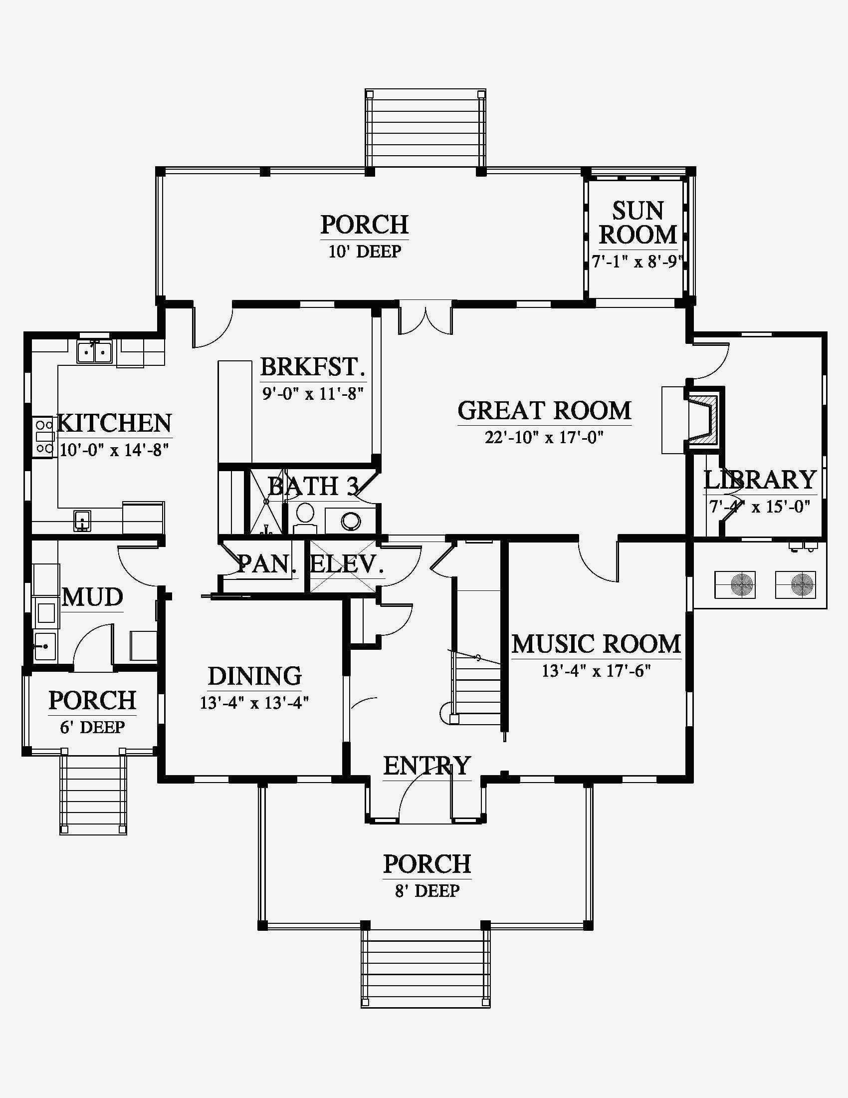 autocad house drawing 18