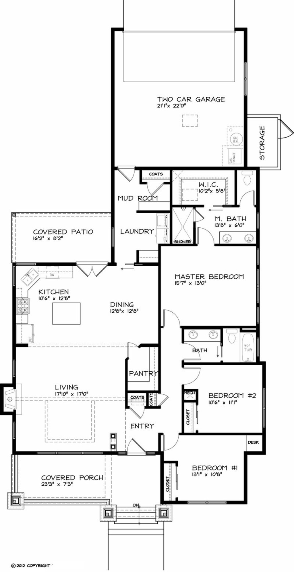 1749 square feet 3 bedrooms 2 bathroom bungalow house plans 2 garage
