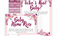 Baby Shower Jeopardy Beautiful Floral Baby Shower Games Style Within Grace