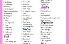 Bed Bath And Beyond Apartment Checklist New College Checklist If I Were To Move And Live In A Dorm