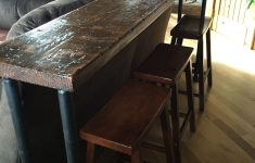 Behind Sofa Bar Table Awesome Pin On House Diy