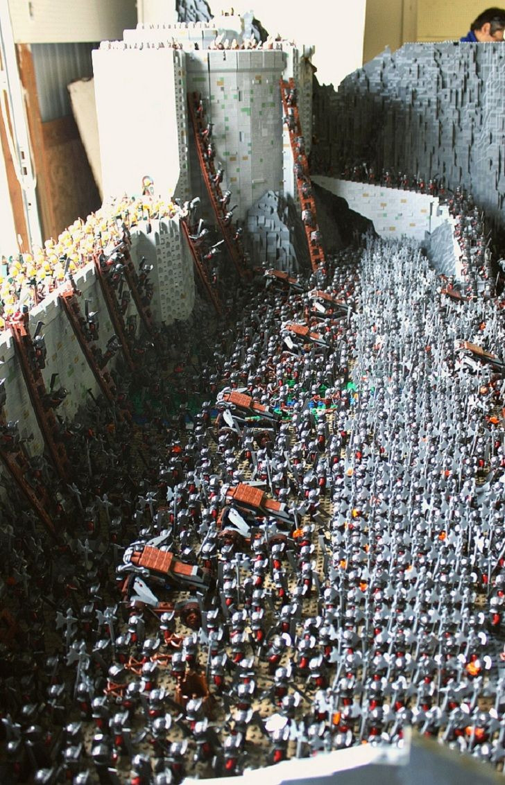 Build A House for 150000 Luxury 150 000 Bricks to Recreate the Helm S Deep Battle Scene From