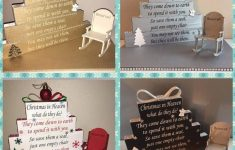Christmas In Heaven Blocks With Chair Awesome Christmas In Heaven Blocks With Reserved Rocking Chair Keepsake Memorial