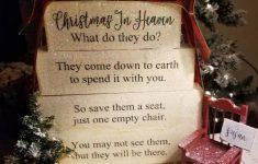 Christmas In Heaven Blocks With Chair Unique Christmas In Heaven Poem Wooden Block Set Decor