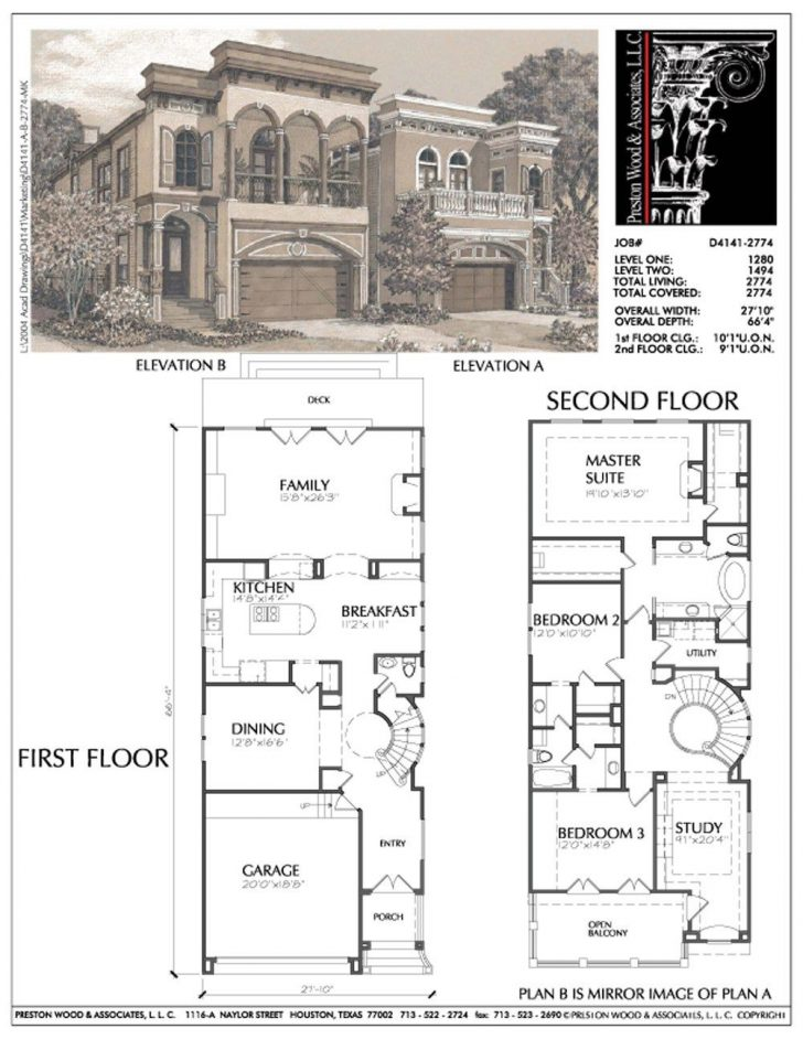 Contemporary House Plans for Narrow Lots 2020