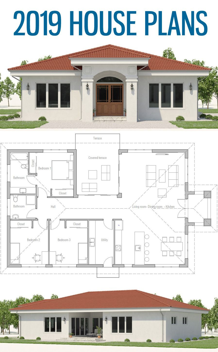 Contemporary House Plans Single Story Inspirational House Plans Single Strory Home Plan House Plans 2019