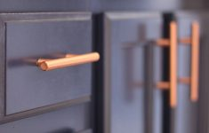 Copper Kitchen Pulls Awesome Gray Bathroom Navy Cabinets Copper Hardware Pulls