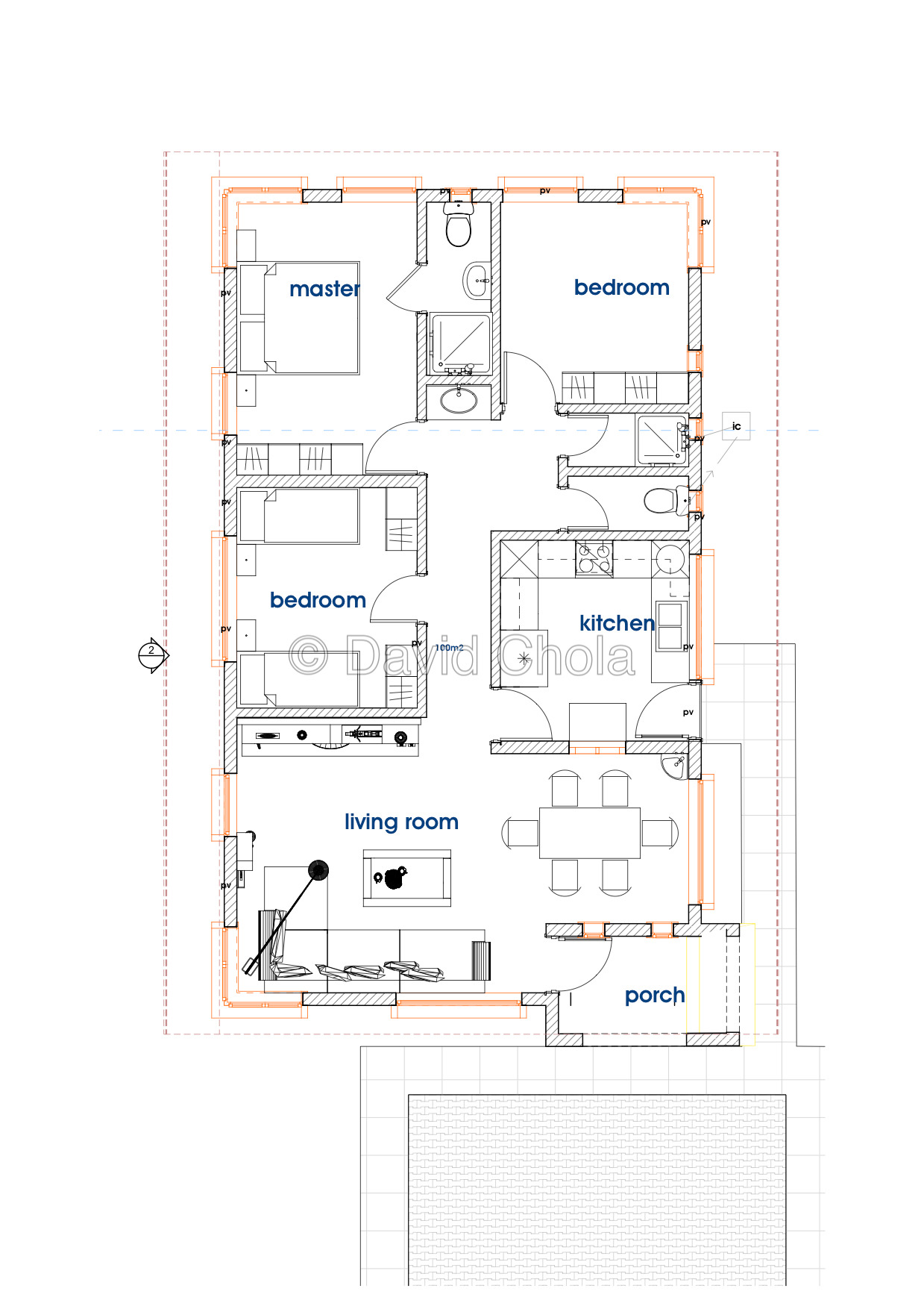 house plans in kenya the bud 3 bedroom bungalow house plan