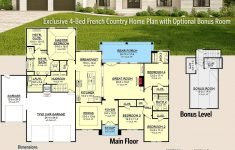 Country House Plans With Porch Elegant Plan Hz Exclusive 4 Bed French Country Home Plan With