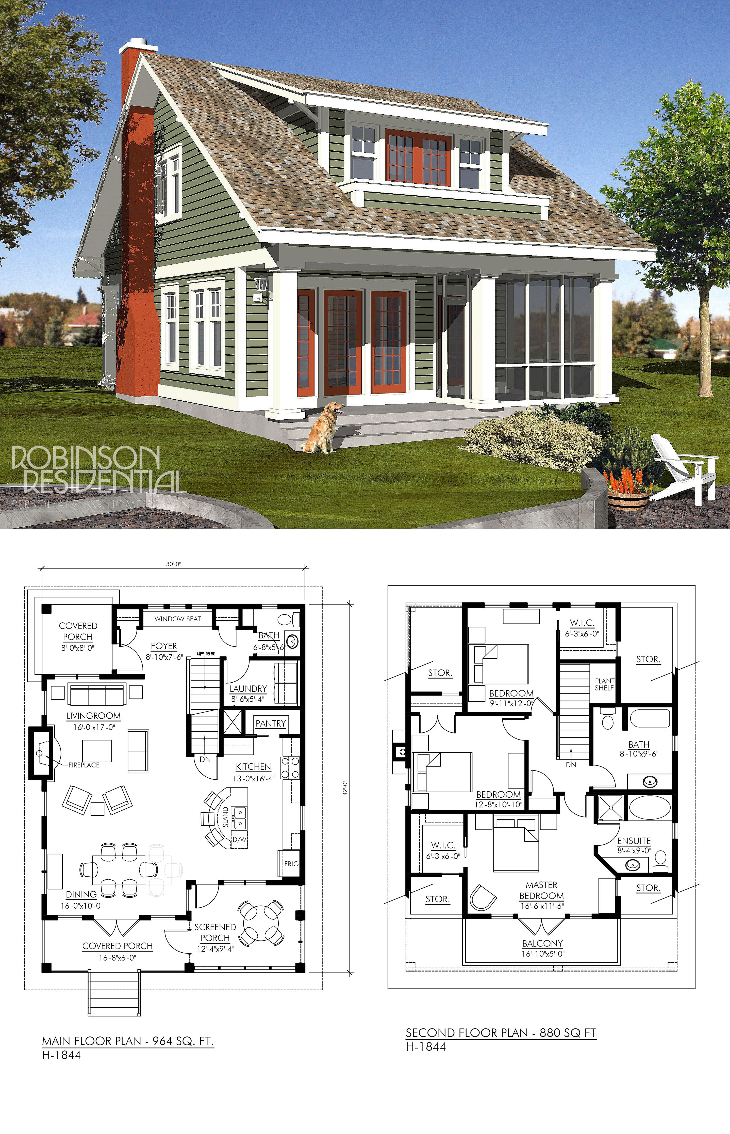 Craftsman Style House Plans One Story Beautiful Craftsman H 1844