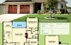 Craftsman Style House Plans One Story Fresh Plan Chp 4 Bed Craftsman With Upstairs Game Room