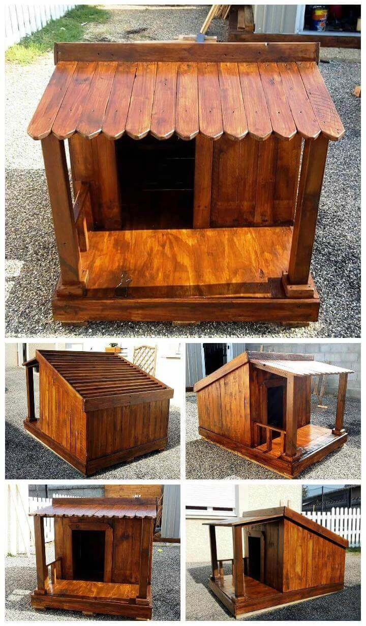Pallet Dog House – Step by Step DIY Dog House Plan Pallet Projects Pallet Furniture Pallet Ideas