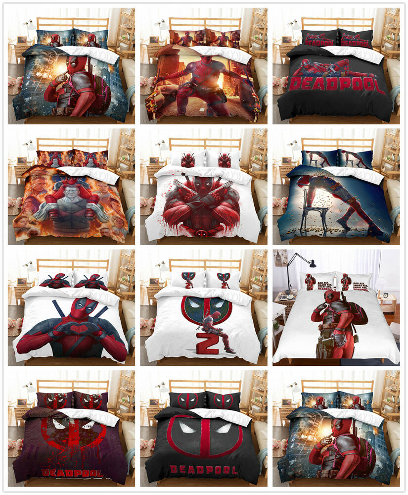 Duvet Covers and Bedding Sets o Deadpool Kids Duvet Cover Bedding Set forterQuilt Cover Pillowcase