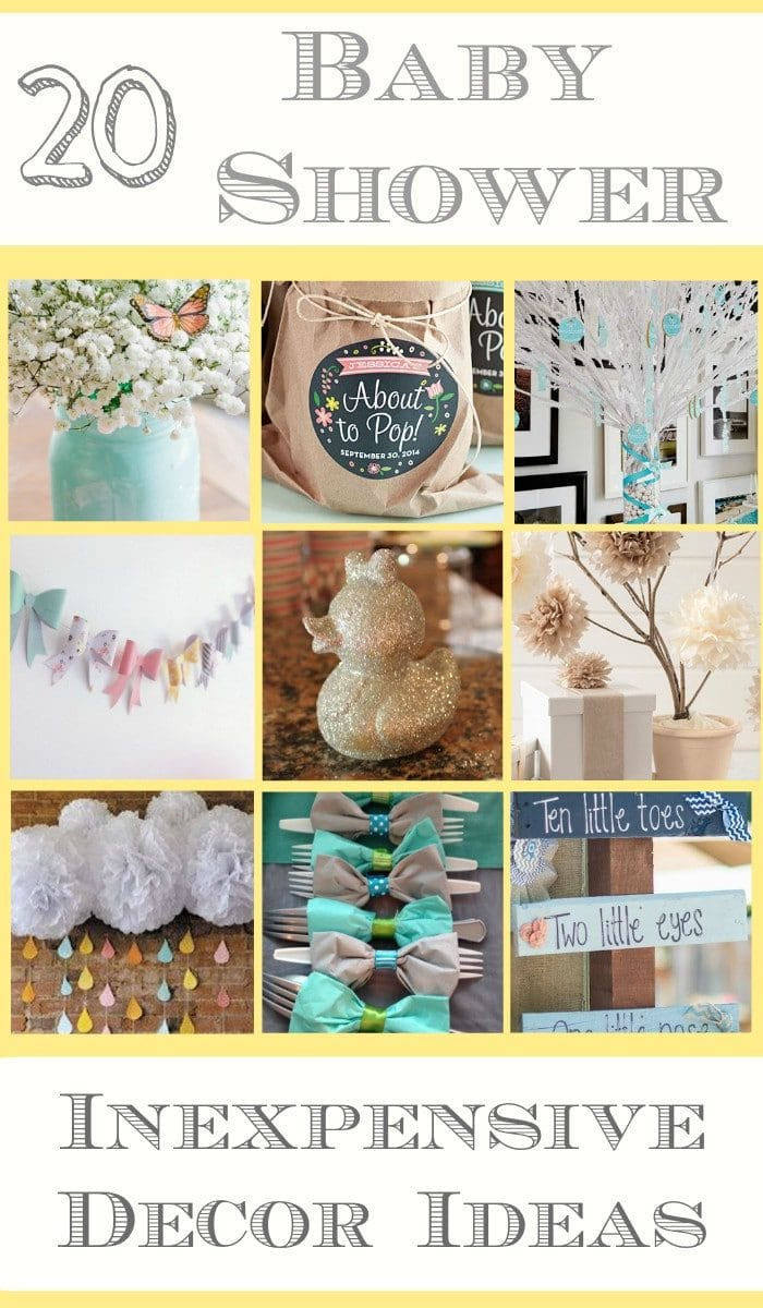 Diy Baby Shower Centerpieces Boy Inspirational Diy Decorating Ideas for A Baby Shower · the Typical Mom
