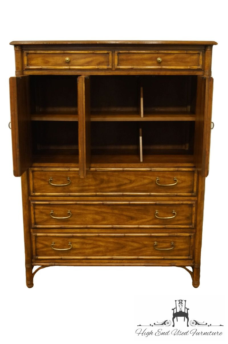"""Drexel Heritage Bedroom Furniture New Drexel Heritage Malay Collection asian Inspired Faux Bamboo 43"""" Door Chest 712 420"""