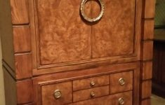 "Drexel Heritage Discontinued Collections Unique Drexel Heritage ""insignia"" Burled Wood Armoire Tv Cabinet"