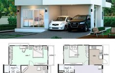 E House Plans Designs Fresh House Design Plan 7x11m With 4 Bedrooms