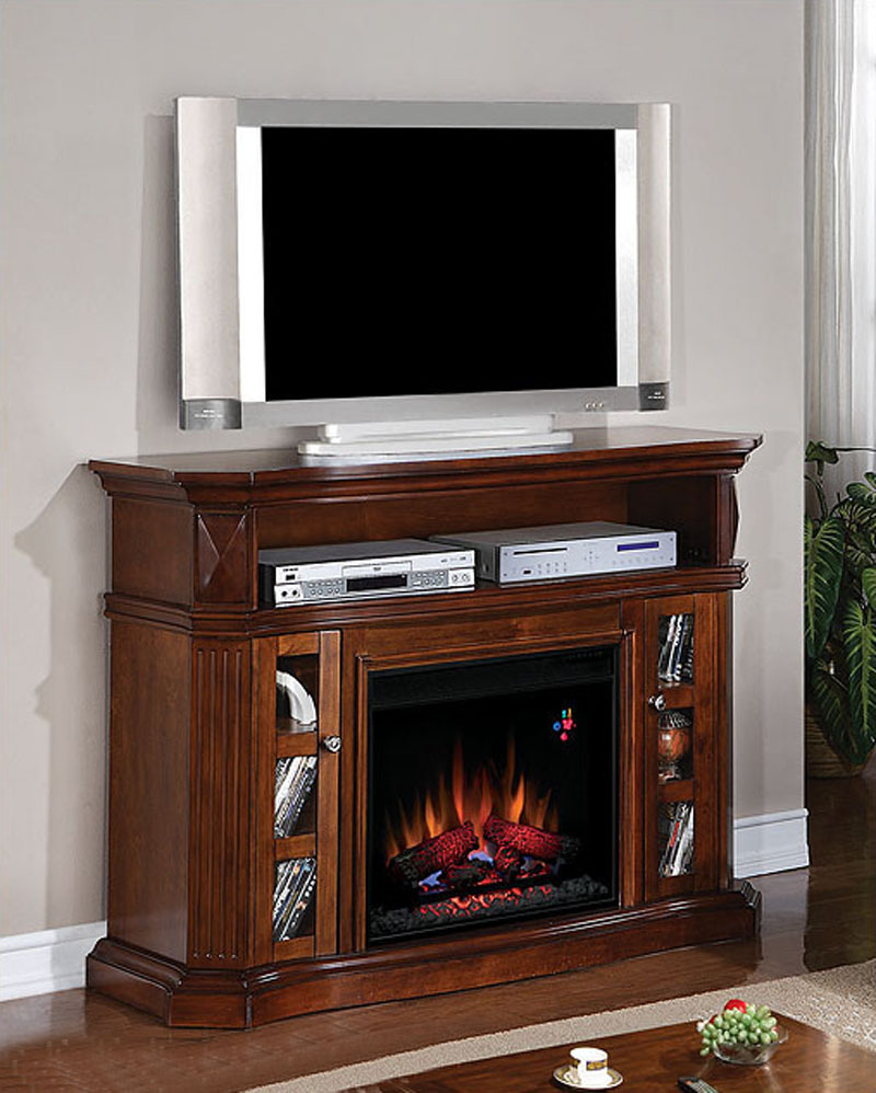 classic flame fireplace 60in tv console bellemeade